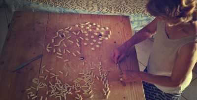 Making pasta with Mamma Irene