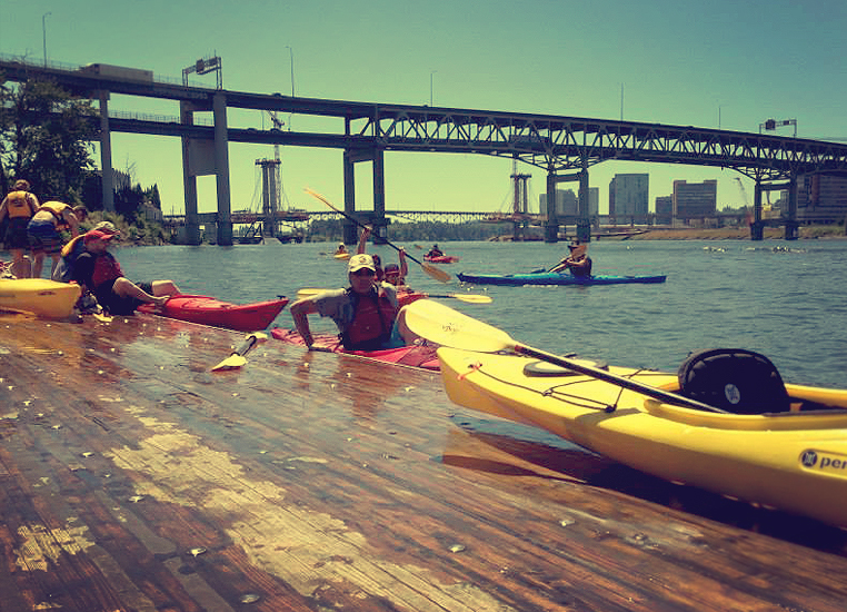 Kayak Through Portland on the Willamette River
