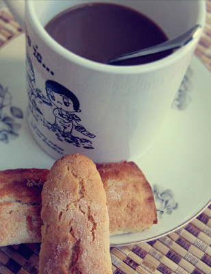 A nice coffee and cookies is  all I need to start the day, try telling my mom that.