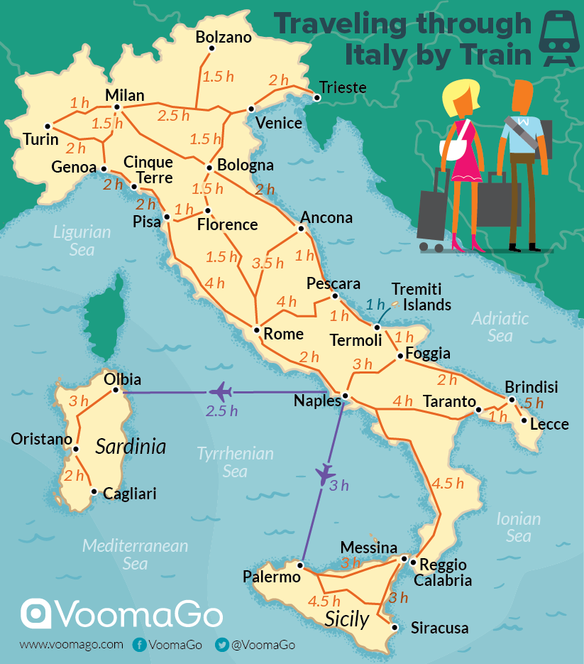 VoomaGo Transportation – Travel Map Of Italy