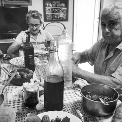 Lunch in the Italian home of Anna and Vincenzo