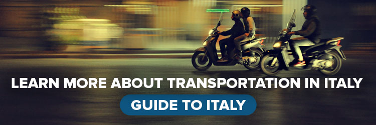 Learn More about Transportation in Italy with vespas driving down the street
