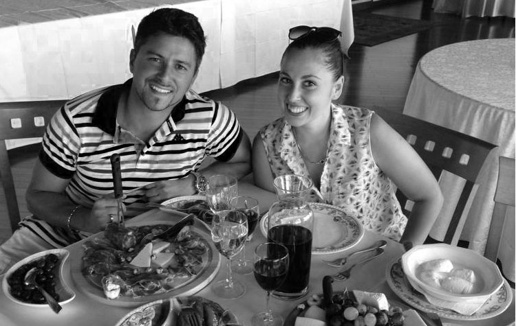 Having lunch with our Local Sara in Sicily, Italy