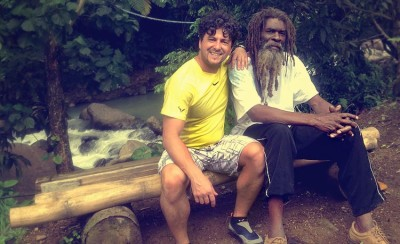 Travel with Locals, Antimo meeting Moses for an experiential travel vacation on the Caribbean island of Dominica