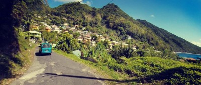 Learning how to Drive in Dominica's winding roads